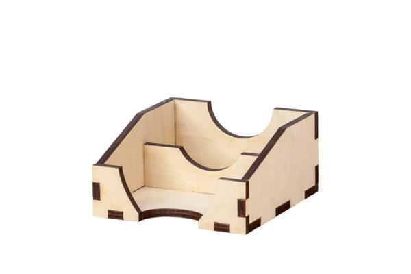 Drewniany wizytownik, podwójny stojak na wizytówki
