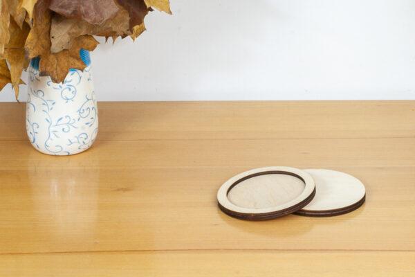 Okrągła, drewniana tacka - baza dla kreatywnych prac