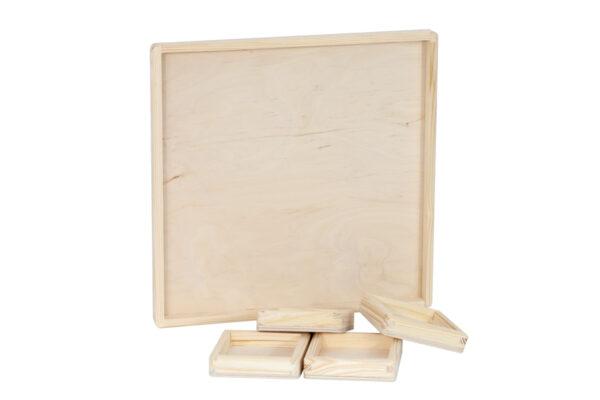 Drewniana tacka - baza do zalewania żywicą