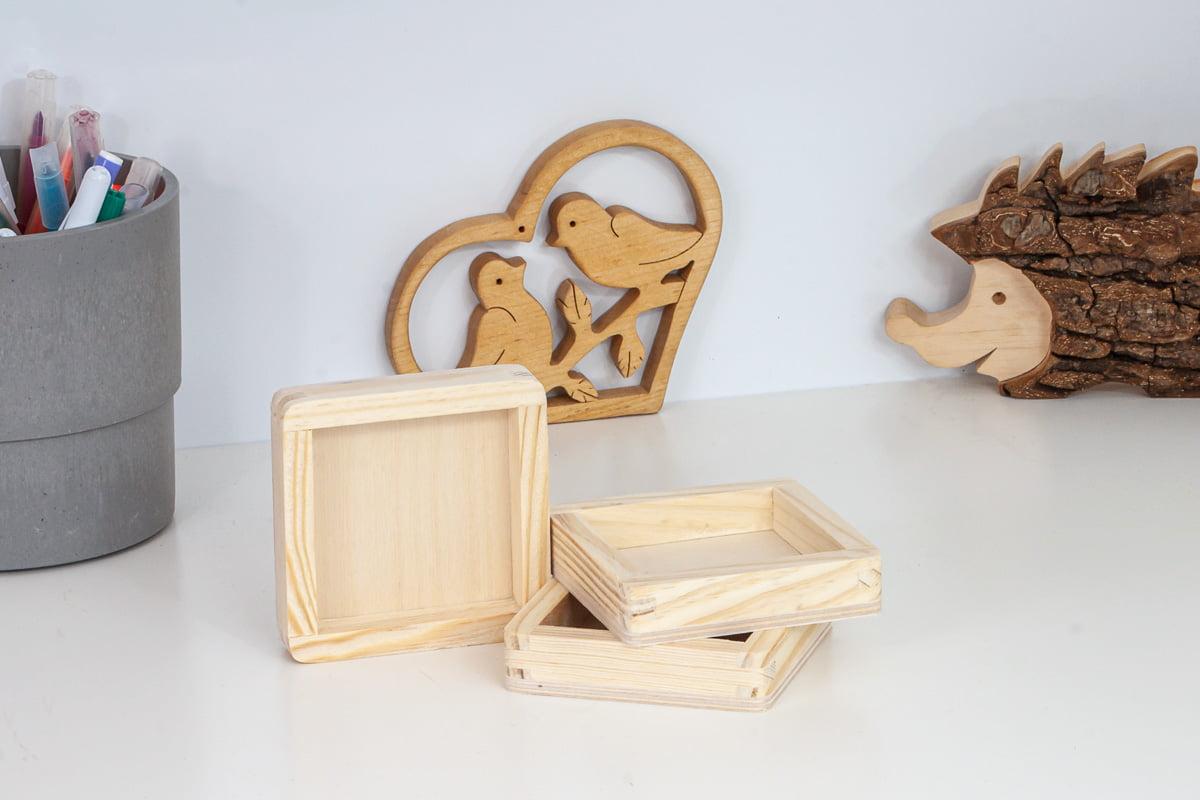 Drewniana tacka - baza dozalewania żywicą