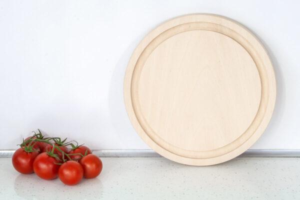 Bukowa deska do krojenia - okrągła