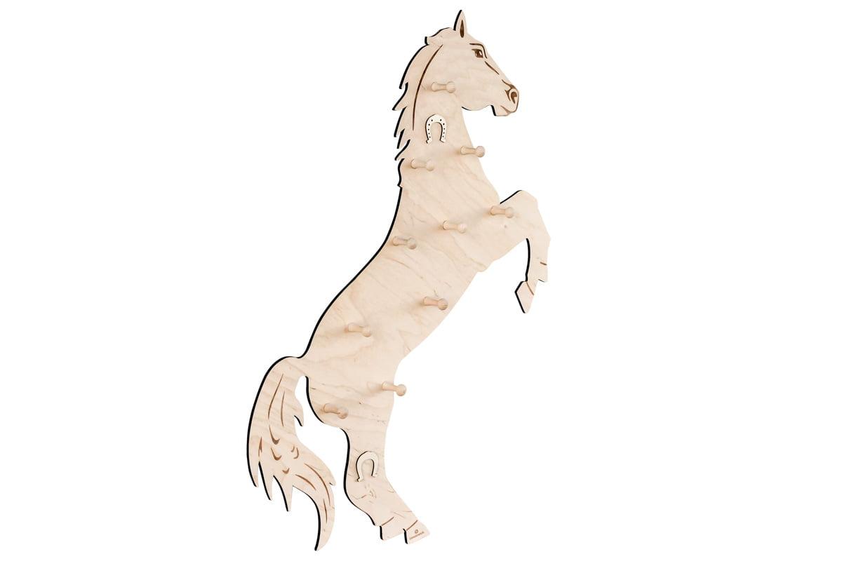 Wieszak ścienny wkształcie konia