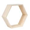 Drewniana półka typu plaster miodu - ramka